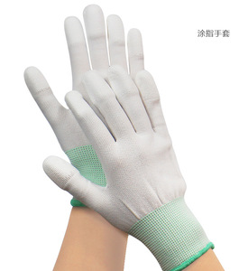 Image 1 - 1pair Antistatic Gloves Anti Static ESD Electronic Working Gloves pu coated palm coated finger PC Antiskid for Finger Protection