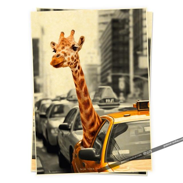 new york safari Humor posters retro poster vintage home decor ...