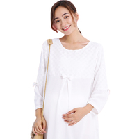 Newest Long Sleeve O Neck T shirt Pregnant Women Tops Maternity Apparel Colthes