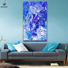 DIY colorings pictures by numbers with colors Abstract blue sea Wave picture drawing painting by numbers framed Home(China)