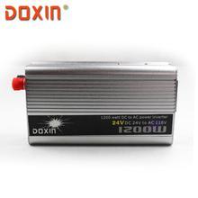 1200 Вт DC 24 В в ПЕРЕМЕННОЕ 110 В Автомобилей Солнечная Энергия Инвертор инвертор Универсальный Инверсор DOXIN ST-N013