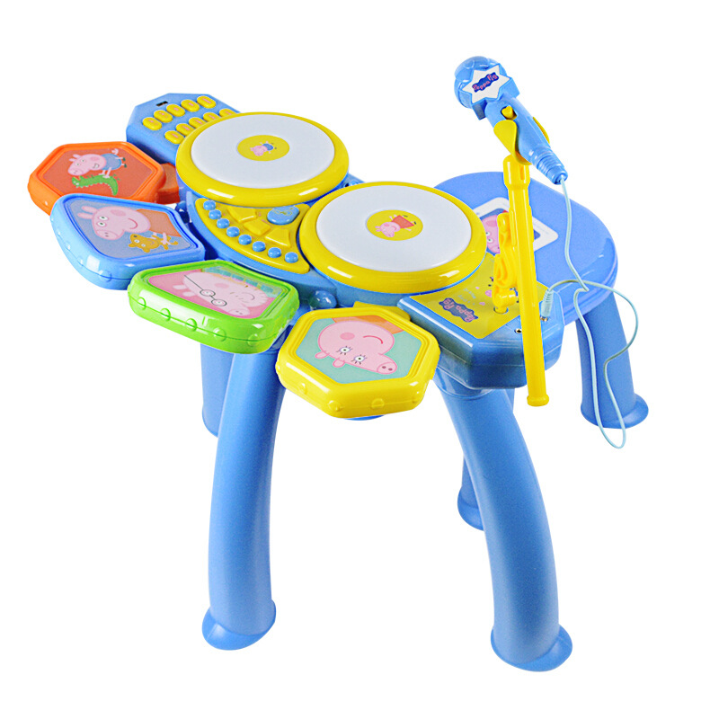 Peppa pig Learning Education Toy Musical Instrument Drum drum children's toys male girl simulation drum baby Toy for children - 3