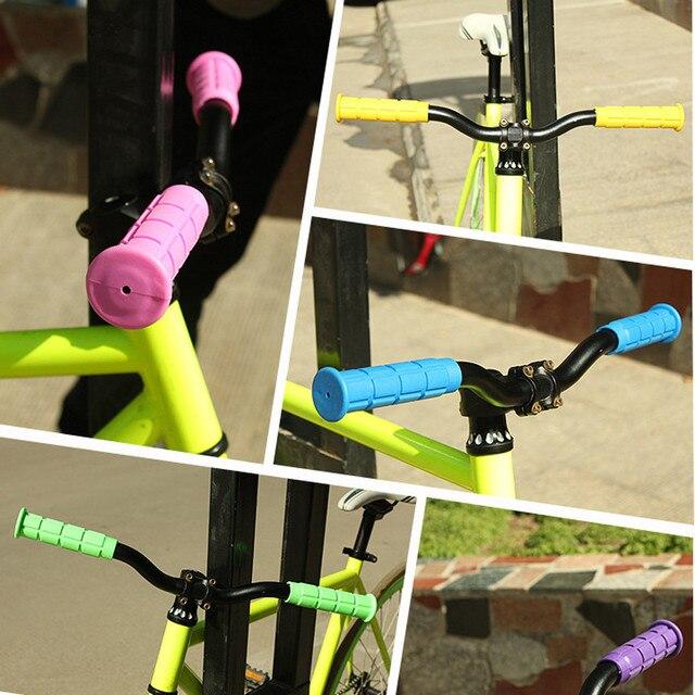 1 Pair MTB BMX Bicycle Mountain Bike Handle Handlebar Soft Rubber Bar Grips End