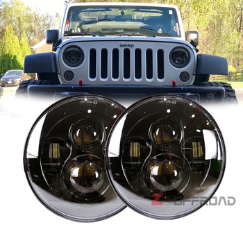 2pcs 7inch offroad LED headlight bulb replacement Hi/Lo beam driving projector lighting lamp for Jeep Wrangler JK TJ LJ