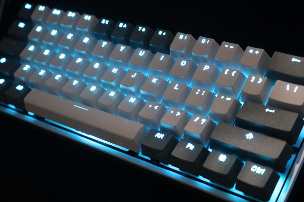 1ae834d8a99 mini poker 61 key 60% ABS backlighting through shine LED Translucidus  poker2 mechanical keyboard keycap poker 2 rk61 pok3r-in Keyboards from  Computer ...