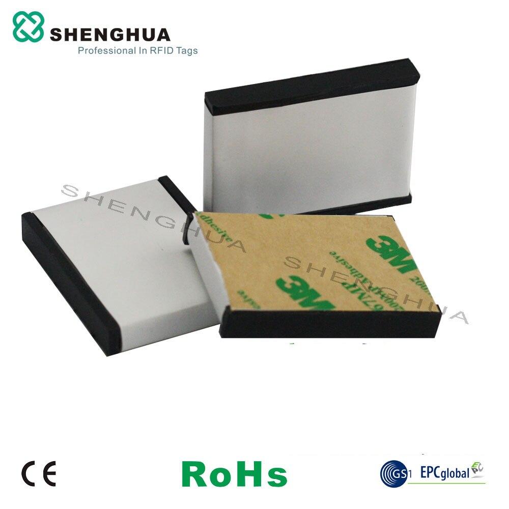 10pcs/pack Custom Adhesive Rewritable RFID UHF Antenna Metal Tag For Warehouse Inventory