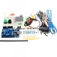 New Starter Kit UNO R3 Mini Breadboard LED Jumper Wire Button For Arduino Compatile Free Shipping