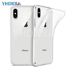 Ультра тонкий прозрачный мягкий ТПУ чехол для iPhone X XR XS Max iPhone 8 7 6 6S Plus 5 5S SE прозрачный силиконовый чехол Coque чехол s