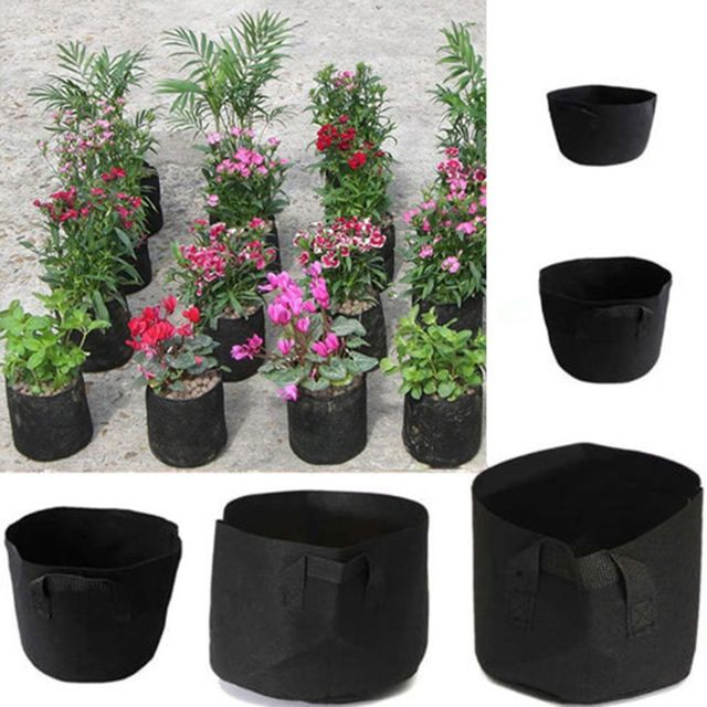 A96 Black Fabric Pots Plant Vegetable Pouch Round Aeration Pot Container Grow Bag HOT