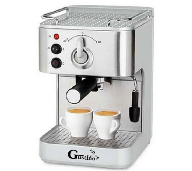 Gustino 19Bar Semi Automatique Machine À Café Machine À Expresso avec Mousse de Lait En Acier Inoxydable 304 Logements pour La Maison ou Au Bureau À L'aide