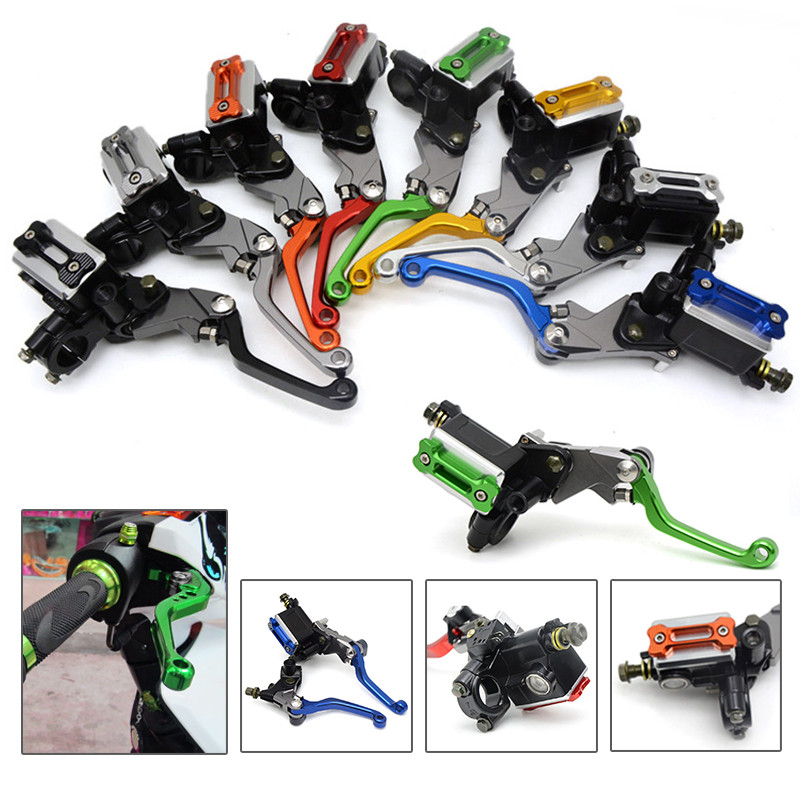 Universal refitting parts CNC ASV brake clutch Lever with pump Fit Most Motorcycle Dirt Pit Bike Motorcross CRF KLX YZF RMZ asv clutch and brake folding aluminum lever for dirt bike pit bike spare parts