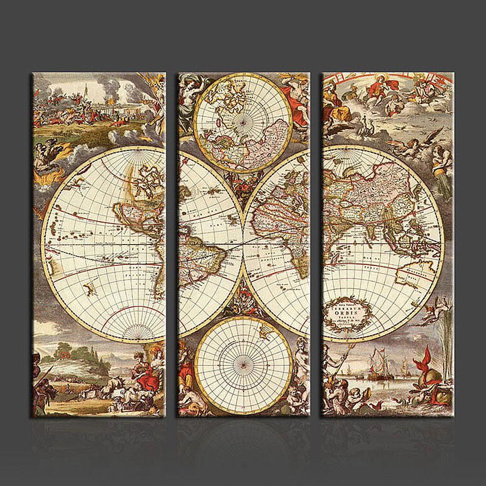 Drucken Karte Europa-kaufen Billigdrucken Karte Europa Partien Aus ... Wohnzimmer Modern Vintage