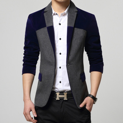 Осень г. одежда высшего качества Блейзер повседневный мужской костюм куртка для мальчиков пальто мужской блэйзер с цветами chaqueta hombre Тренч для мужчин 102708 - Цвет: 1