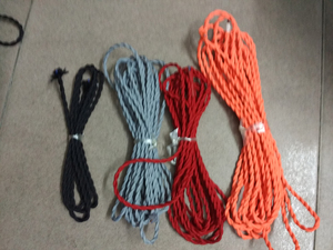 Image 4 - 5m/lot 2*0.75 Copper Cloth Covered Wire Vintage Style Edison Light Lamp Cord Grip Twisted Fabric Lighting Flex Electric Cable