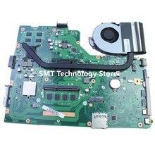 Dla asus x75vc laptopa płyty głównej z i3 cpu 4 gb 60nb0240 x75vb rev: 3.0 bez radiatora 100% testowane
