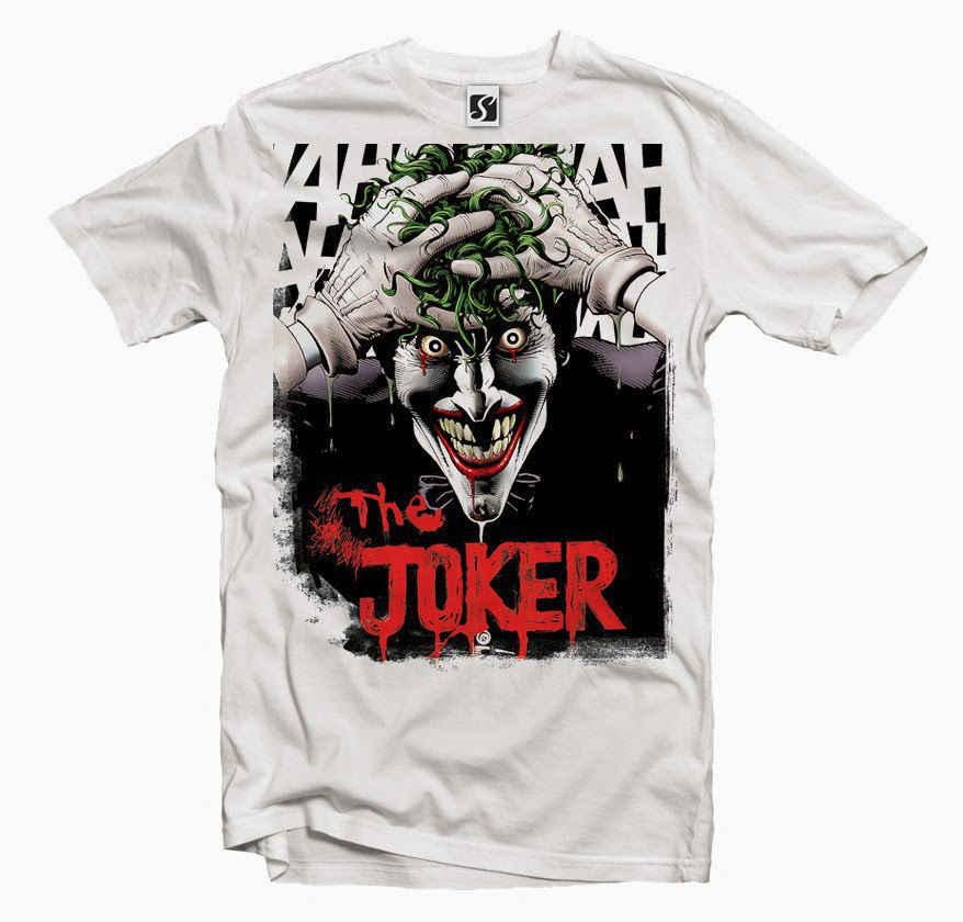 Эксклюзивная Мужская футболка-Joker Ah Design (SB402)
