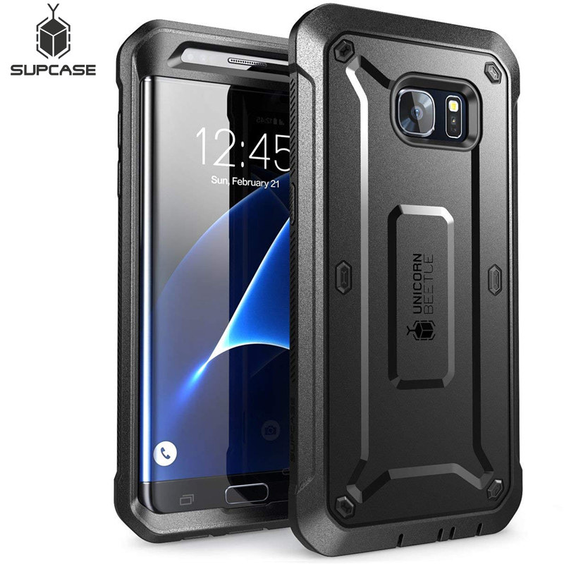 SUPCASE For Samsung Galaxy S7Edge Case UB Pro Series Full-Body Rugged Holster Cover Case WITHOUT Built-in Screen Protector image