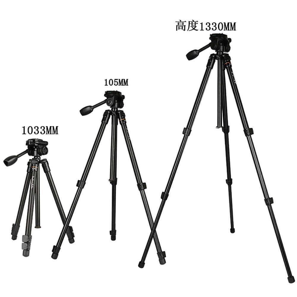 Горячие QZSD компактный штатив для путешествий Новый Q109 52 ''5 кг нагрузки дешевые камеры штатив DSLR цифровой камеры стенд держатель штатива для смартфонов