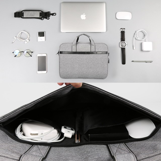 Kingsons Waterproof High Quality Laptop Handbag for 12 13 14 15 Inch 3