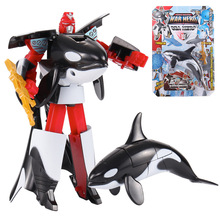 3C Certification Transformation Robot Ocean Park Sharks Action Figure Childrens Educational Deformation Toys