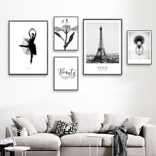 Black And White Pictures Wall Art Print Canvas Posters Prints Landscape Flower For Living Room Unframed