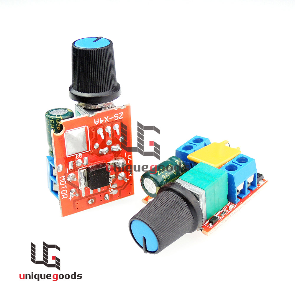 Free Shipping Mini Dc Motor Pwm Speed Controller 3v 6v 12v 24v 35vdc 90w 5a Dc Motor Speed
