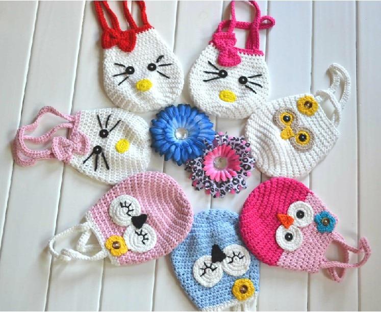 Knitting Pattern Handmade Crochet Kids Coin Purseanimals Owl Monkey