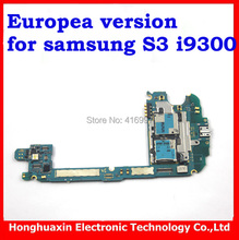 DHL/EMS free shipping Europea version original mainboard for Samsung Galaxy S3 i9300 unlocked Motherboard circuit system board