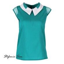 Летние женские мягкие свободные шифоновые блузки леди жилет для девочек Блузка Camisa feminina Лидер продаж