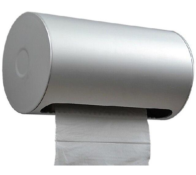 Space Aluminum Toilet Paper Box Waterproof Lengthen Tray Toilet Paper  Holder Paper Towel Holder