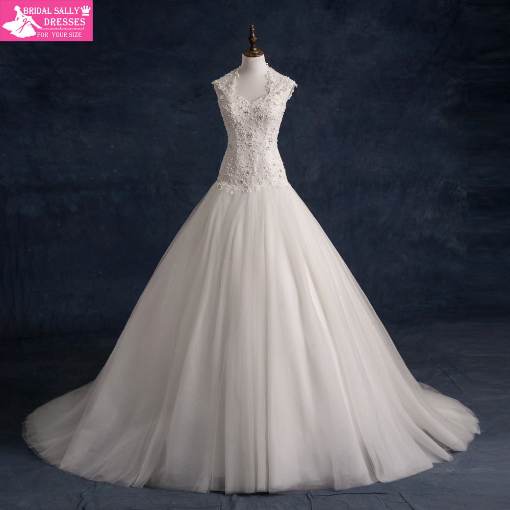 Cheap Princess Wedding Dresses wedding dress sale online Deep V Neck Long Sleeves Lace Tulle A Line Wedding Dress