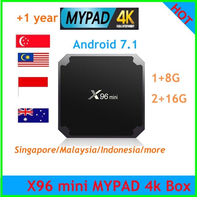 X96 mini tv box mypadtv 4 k 1 Ano Serviço 350 + Canais liveTV/vod IPTV Malásia Cingapura Indonésia austrália filme música esporte