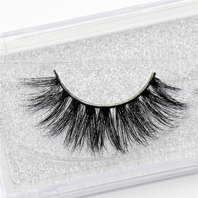 Mink lashes 3D Mink false eyelashes cruelty free natural Lashes volume Real Mink Lashes Handmade Crossing Thick Lashes D08