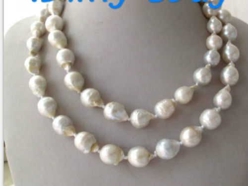 10x10 jewerly freeshipping Big 12-14MM pandemic white Baroque pearls 36 inches luhan lu han autographed original photo 4 6 inches collection freeshipping 03 2017