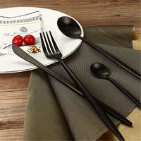 High Quality 4Pcs Set Black Cutlery Set 304 Stainless Steel Western Food Tableware Sets Fork Steak