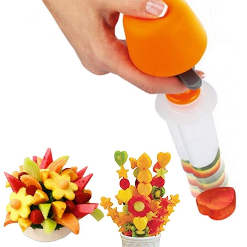 Kunststoff Kuchen Cookie Gemüse Obst Form Cutter Slicer Veggie Mold Set DIY Dekorieren Werkzeuge Küche Zubehör