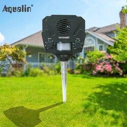 Nueva llegada jardín Eco-friendly Solar ahuyentador Animal ultrasónico perro repelente de plagas con Chargable USB para al aire libre #32025