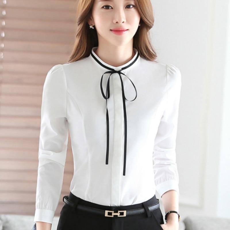 Womens White Shirt With Bow Custom Shirt
