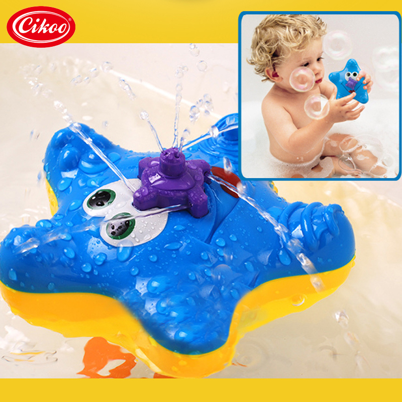 Starfish Electronic Baby Bath Toys Fountain Toy Swimming font b Kids b font Summer Toy Spraying