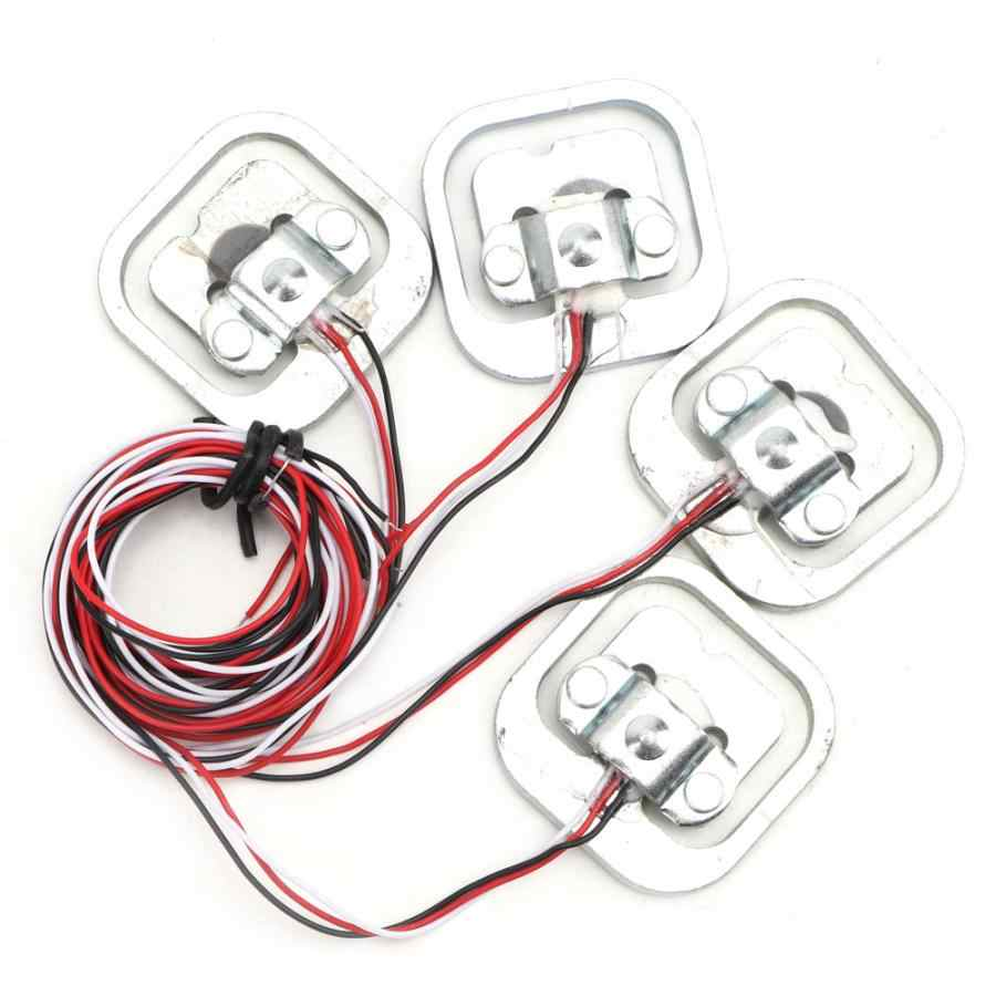 HX711 Amplifier 4Pcs 50KG Body Load Cell Half-bridge Strain Gauge Weight Sensor
