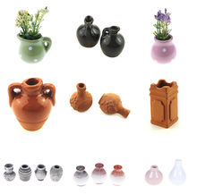 1:12 Mini Flower Pot DIY Handmade Doll Houses Kitchen Pottery Ceramic Ornament Decor Vase Dollhouse Miniatures(China)