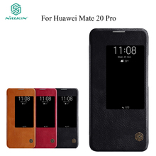 Nillkin For Huawei Mate 20 Pro Flip Case Qin PU Leather Cover Silicone Back