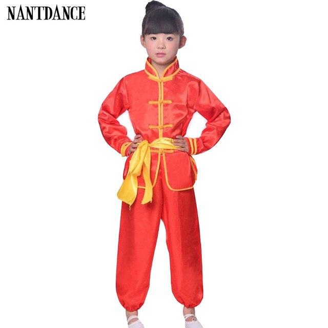 Дети таэквондо дети ушу мальчиков Китайская традиционная Костюмы Китай костюм для кунг-фу Униформа кунг-фу для Костюмы для девушек кунг-фу