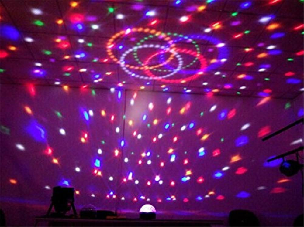 3 W Plafond RGB Kleur Veranderende Geluid Actived Crystal Magic Mini ...