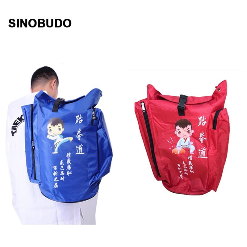 Sinobudo High Quality Backpack Wtf Equipment Package Bag Taekwondo Bag Protector Bag Children's Adult Sports Backpack