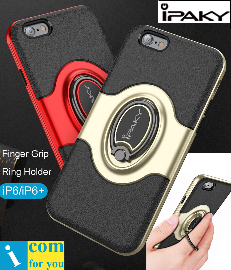iPaky Finger Grip Ring Holder Cover Case For iPhone 6 6S Plus Drop resistance Armor anti hit Vehicle Magnetic suction