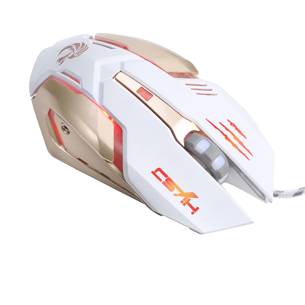 Image 3 - HXSJ Glowing Mouse USB Wired Professional Gaming Mouse Ergonomic Design Optical Mechanical Mouse Game with 7 Colors LED Backlit-in Mice from Computer & Office