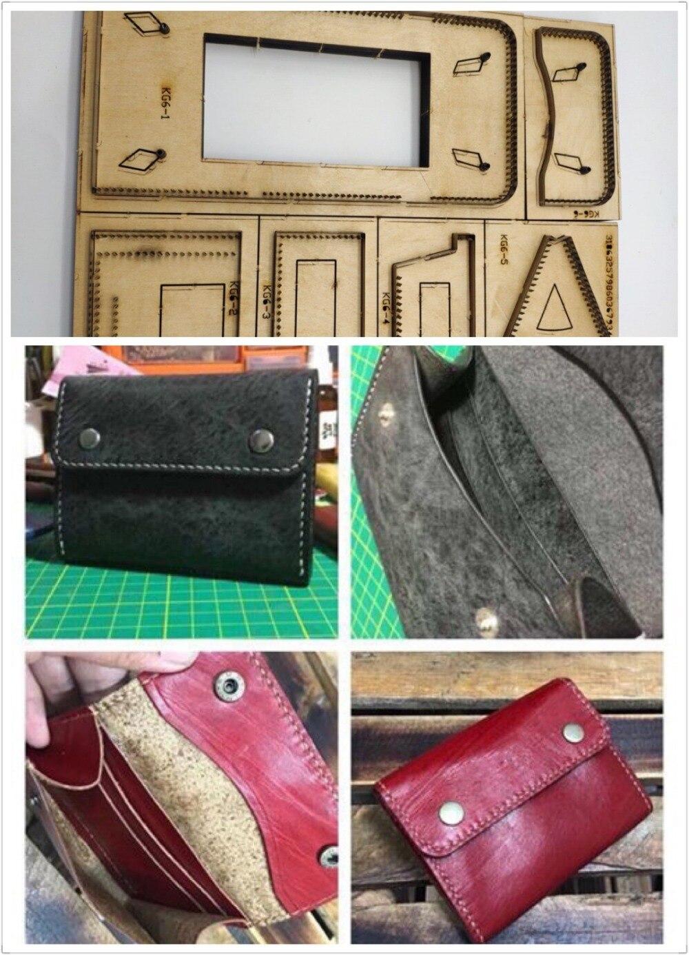 Cuir artisanat modèle cutter portefeuille porte carte découpe couteau moule en cuir trou poinçons outil ensemble deri el aletleri