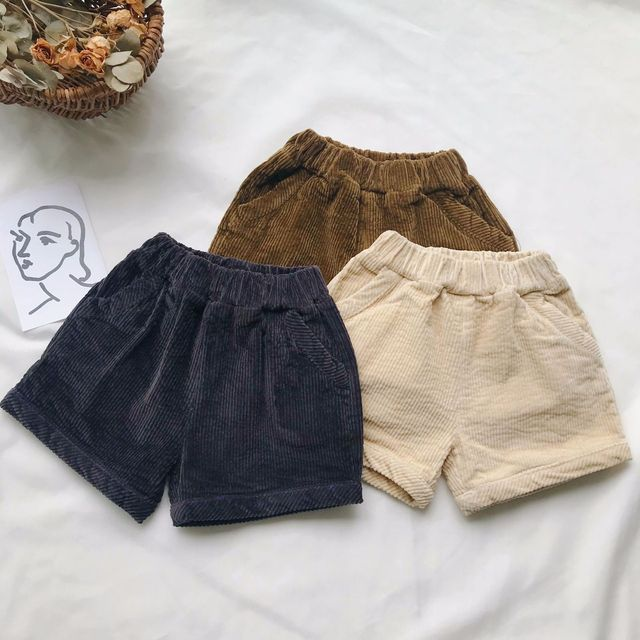 f84b6b326d US $14.9  2018 New Fashion Kids Clothing Baby Boys Cotton Shorts Solid  Color Children Girls Corduroy Pants Toddler Autumn Shorts 1 6 Years-in  Shorts ...
