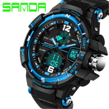 New 2016 Brand SANDA Fashion Watch Men G Style Waterproof Sports Military Watches Shock Men's Luxury Analog Quartz Digital Watch
